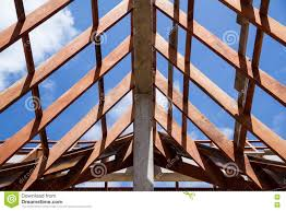 100 House Trusses Low Angle View Of Roof And Framing Wooden Of New C