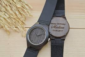 Womens Wood Watch Engraved