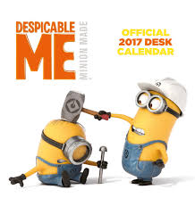 Easel Desk Calendar 2018 by Despicable Me Official 2017 Desk Easel Calendar Minions Month To
