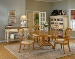 5 Piece Oval Dining Room Sets by Hillsdale Wilshire Round Oval Dining Table Antique Pine 4507 816