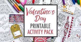Valentines Day Printable Activity Pack