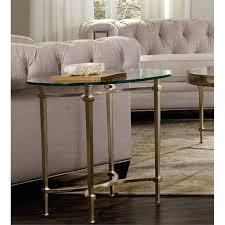 Hooker Furniture Highland Park Glass Top End Table in Gold 5443
