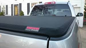 installed extang trifecta signature series canvas tonneau cover