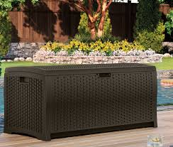 suncast 73 gallon resin deck box reviews wayfair