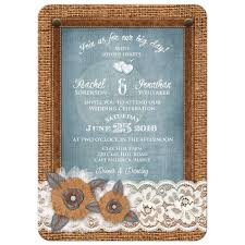 Great Rustic Country Wedding Invitation With Burlap Lace Leather Denim