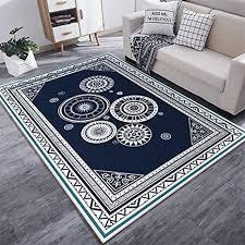 de teppich einfaches modernes blaues und weißes