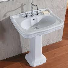 klassisches badezimmer säule waschbecken jahrgang impero olympia waschbecken