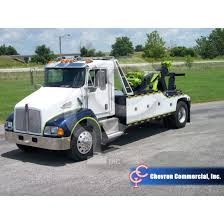 KENWORTH T370 PACCAR 315HP W/CHEVRON MODEL 1016 MEDIUM DUTY TOW TRUCK