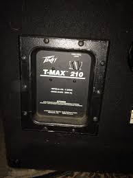 2x10 Bass Cabinet 4 Ohms by For Sale Peavey T Max 2x10 Loaded Cabinet Talkbass Com