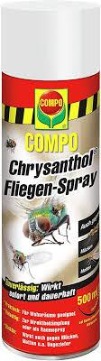 compo chrysanthol fliegen spray insektenspray gegen fliegen mücken motten ua ungeziefer 500 ml