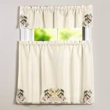 Window Art Tier Curtains And Valances by Cutwork Palm Tree Valance And Tier Curtain Set Christmas Tree