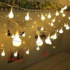100 LED Globe String Lights Ball Christmas Lights Indoor