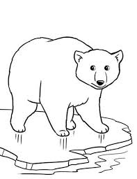 Polar Bear On Thin Ice Coloring Page