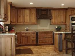 Kitchen Large Rustic Cabinet With Granite Countertops