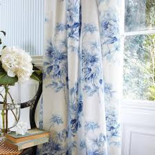 Jacobean Style Floral Curtains by Blue Floral Curtains Home Design Ideas And Pictures