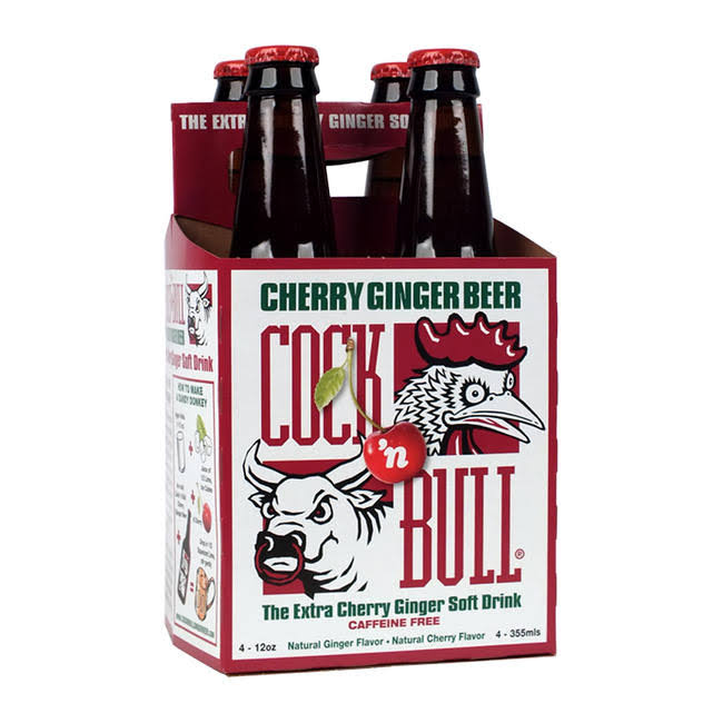 Cock n' Bull Cherry Ginger Beer - 4 pack, 12 fl oz bottles