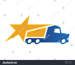 100 Star Trucking Modern Truck Logistic Delivery Logo Rising Stock Vector Royalty