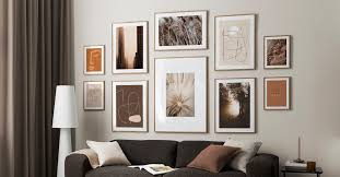 wall with scandinavian design pictures from