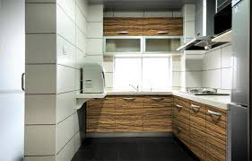 Wood Grain Laminate Kitchen Cabinet With High Glossy Buy Wood