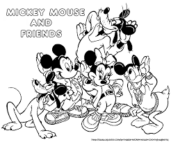 Fresh Mickey And Friends Coloring Pages 55 For Print With