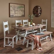 Calantha Extendable Dining Set With 2 Benches