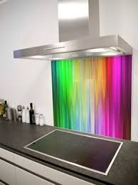 Love This Spectrum Rays Printed Glass Splashback From DIYSplashbackscouk