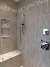 shower seat with glass extending tiled area of tub home