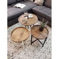 beistelltisch couchtisch wohnzimmer tisch rund omaha metall