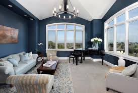 blue paint with light blue wall bedroom transitional and removable