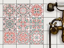 stickers carrelage salle de bain pvc autocollant carreau de ciment mosaique salle de bain