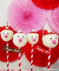 DIY Santa Claus Cake Pops Recipe BirdsParty