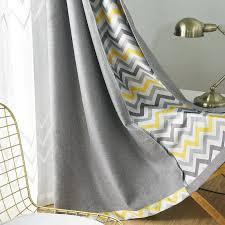 topfinel gedruckt geometrische welle blackout vorhänge vorhänge für wohnzimmer gelb blau moderne schlafzimmer vorhang buy custom vorhänge nordic
