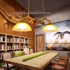 Best 2 Antler Chandelier Two Cast Ceiling Lights Antique Rustic Style Pendant Lighting Fixtures