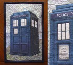 Doctor Who Tardis quilt