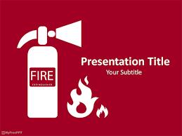 Free Fire Extinguisher Powerpoint Templates Myfreeppt Com
