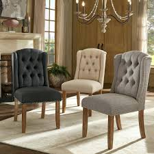 Wingback Dining Chair Leather Dining Chairs Black Leather ...