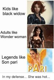 Memes Black Widow And Kids Like Adults Wonder Woman