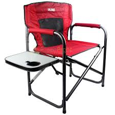 Details About Uline Director's Chair Red Mesh Back 35