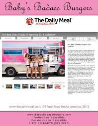Baby Love (In The Media) - Baby's Badass Burgers - Los Angeles - 877 ... Community Events Bollywood Bites Food Trucks In Los Angeles Ca Bbq Smokehouse On Twitter Come Hang With Us Tonight 3rd Thursday Going Mobile From Brickandmortar To Food Truck National Organizers Southern California Mobile Vendors Association Calisoul Truck Roaming Hunger Lacma Event 5900 Wilshire Chew This Up Rally Wikipedia Home Industry Reviews Got Foodtrucks Special Planning And Marketing Elevate Your Thumb Butte Festival The Cody Anne Team