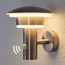 pir outdoor wall light lillie with leds lights ie