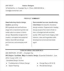 Interior Design Sample Resume Examples For Consultant Decorator