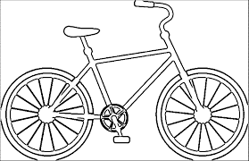 Bicycle Coloring Page In