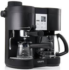 Amazon KRUPS XP1600 Coffee Maker And Espresso Machine Combination Black Combo Kitchen Dining