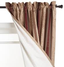Heat Insulating Curtain Liner by Amazon Com Thermatec Tuscan Stripe Thermal Backed Pole Top Panel