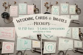 Rustic Wedding Invitation Mockup Example Image