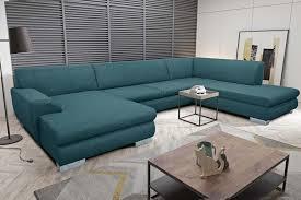 trient wohnlandschaft polstergarnitur couchgarnitur sofa petrol
