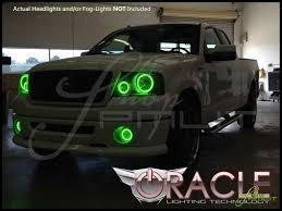 oracle 06 08 ford f150 led colorshift halo rings fog bulbs