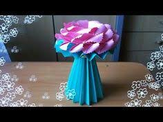 How To Make An Origami Vase For Paper Flowers Learn Fold Cute Roses Lilies And Other Handmade From 2 Sheets Of Print
