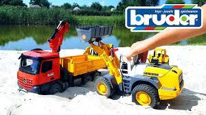 100 Bruder Trucks Car For Kids Transporter Bulldozer Backhoe Loader Truck