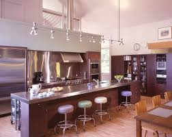 industrial track lighting kitchen traditional with marble